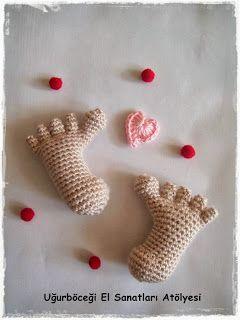 Uğurböceği El Sanatları Atölyesi.: Minnak Ayaklar - Bebek/Nikah Şekeri