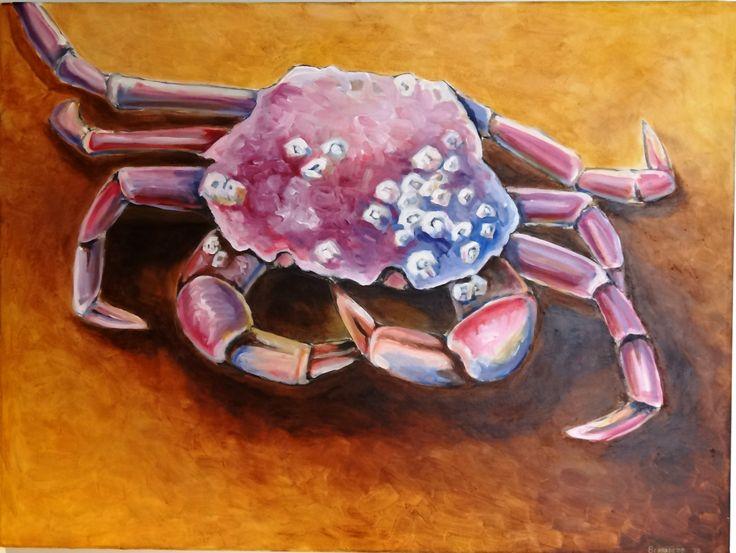 painting,Krab,acryl schilderij