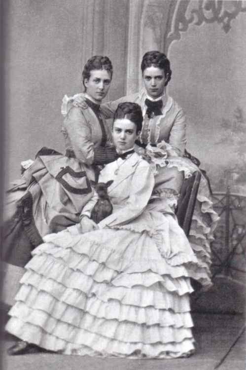 Maria Feodorovna, Thyra of Denmark and Alexandra of Denmark (later queen of Great Britain and current queen Elizabeths great grandmother)