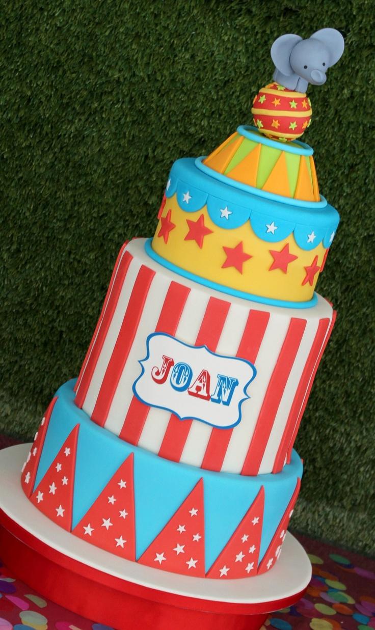 Circus cake  Tarta de circo