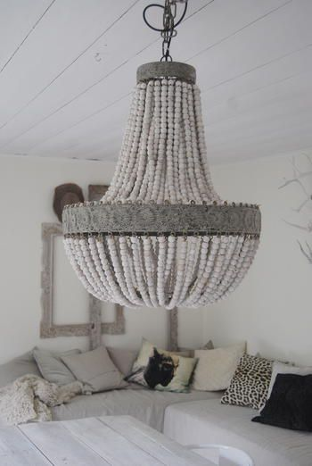 1000 ideas about beaded chandelier on pinterest bead chandelier wood bead chandelier and. Black Bedroom Furniture Sets. Home Design Ideas