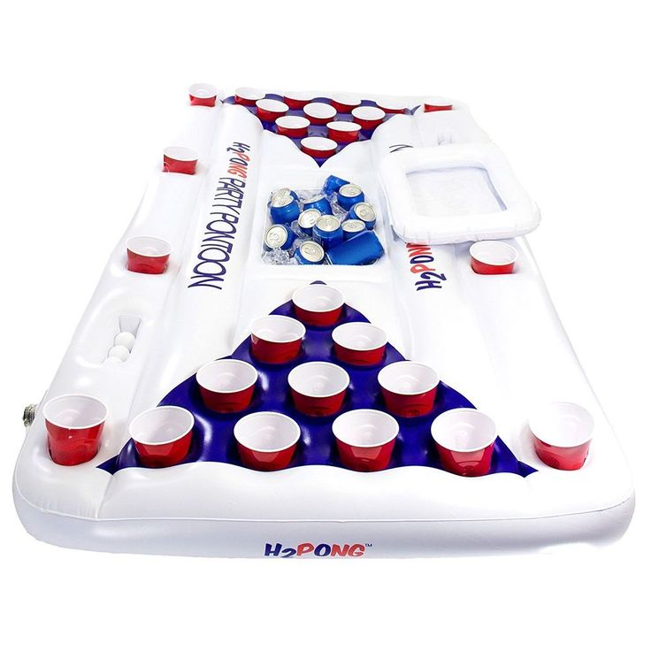 Beer Pong Table Inflatable Pool Float Blow Up Cooler Party Game Summer Raft New     eBay
