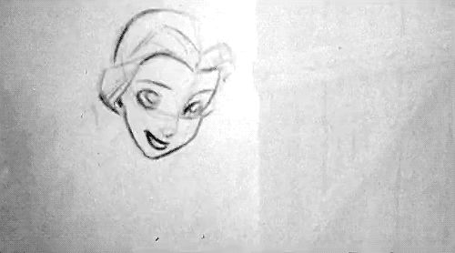 beauty and the beast 2D traditional pencil test James Baxter traditional animation Disneyedit toosha beautyandthebeastedit