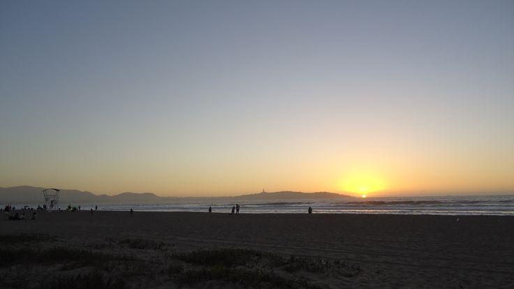 Atardecer en Playa La Serena, IV Región, Chile.