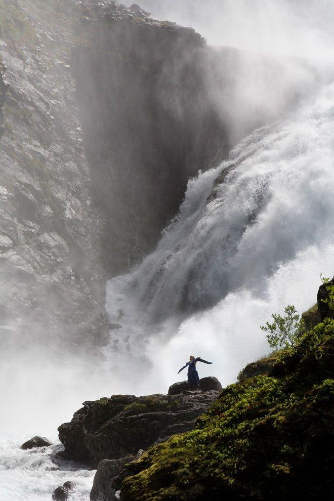 Cascada de Kjoss, en Noruega. Bellísimo país, uno de los más hermosos de Europa...