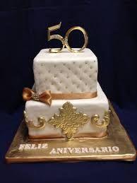 Resultado de imagen para imagenes de pasteles fondant 50 aniversario debodas de oro