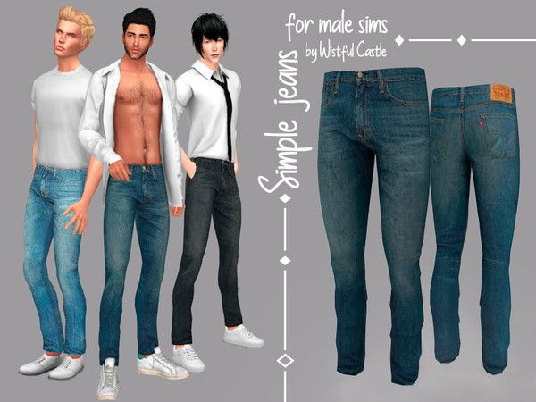 sims 4 cc // custom content male clothing // The Sims