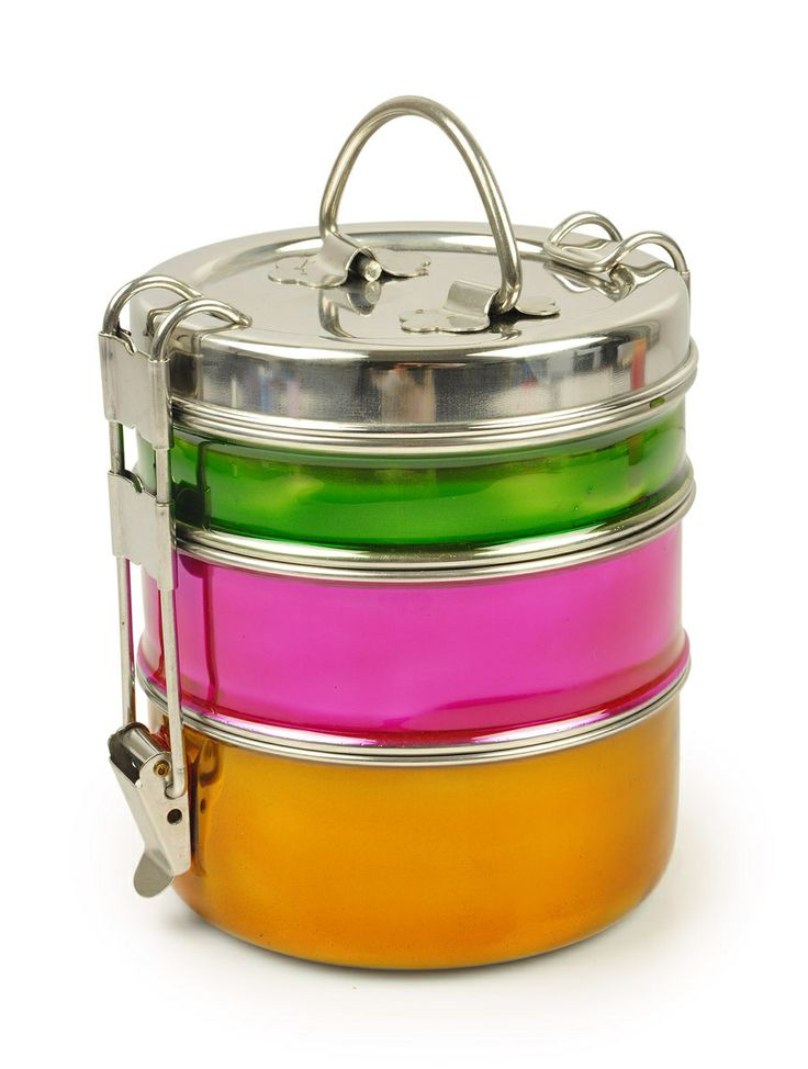 Tiffin box, great for packed lunch, to storing your sweeties and chocolates from Tiffinware.com