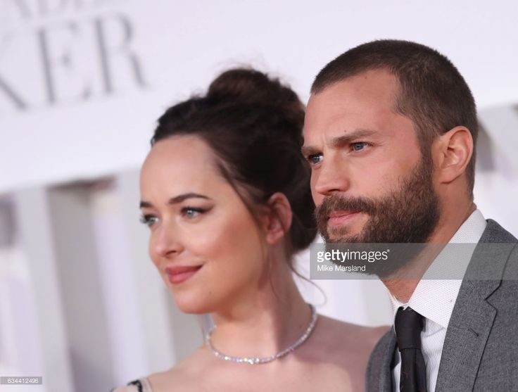 Jamie Dornan and Dakota Johnson attend the 'Fifty Shades Darker' - UK Premiere on February 9, 2017 in London, United Kingdom.