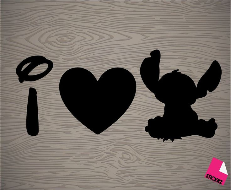i love stitch vinyl decal sticker, lilo and stitch, Disney, movie, cute, kawaii in Collectibles | eBay