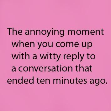 This always happens...