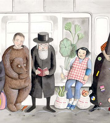 New York City Subway Portrait Project by Sophie Blackall