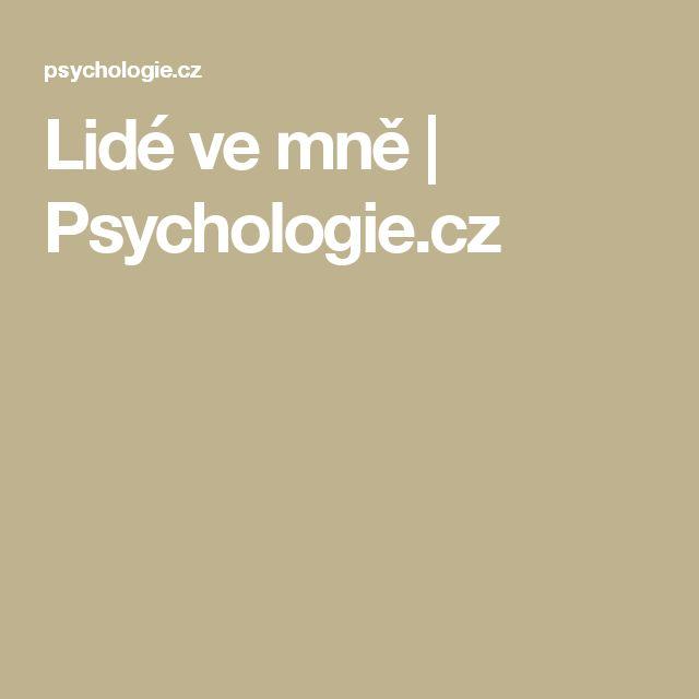Lidé ve mně | Psychologie.cz