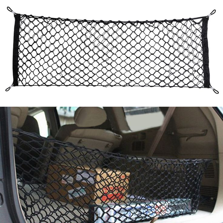 Elastic Nylon Car boot string bag Trunk Storage Organizer auto storage Net for SUV/RV Hatchback Trunk car Interior Accessories