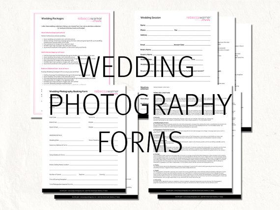 Wedding contract wedding photography contract by CaitlinsMedia - wedding contract
