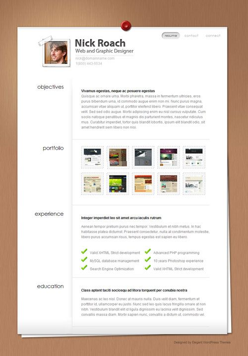 171 best Premium Wordpress Themes images on Pinterest Html, Free - wordpress resume themes