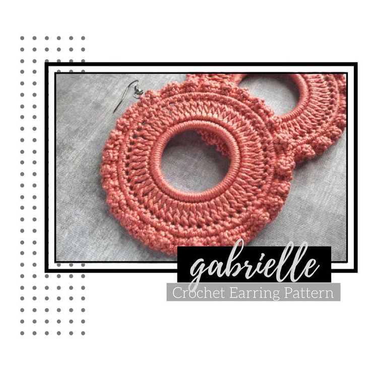 Excited to share the latest addition to my #etsy shop: Crochet Earring PATTERN - Garbrielle Crochet Earrings - INSTANT DOWNLOAD #crochet #crochetpattern