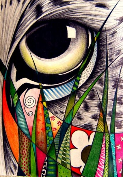 "Love the work of Sandra p. Köche!  This piece is entitled ""Onça na mata"""