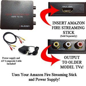 Using Streaming Sticks with Older model TVs that have Composite (red/white/yellow) Inputs, required an HDMI Converter.                               Compatible with Amazon Fire Streaming Stick, Google Chromecast, ChromecastUltra & other HDMI Sticks