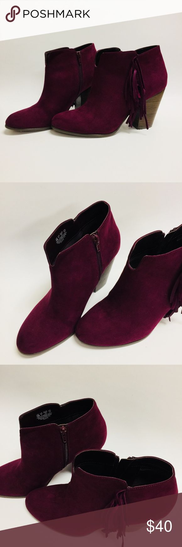 """CARLOS Dark Red Burgundy Wine High Heel Short Boot * Brand: Carlos * Size: 10 * Condition: NWOB * Heel height: approx. 3"""" Carlos Shoes Ankle Boots & Booties"""