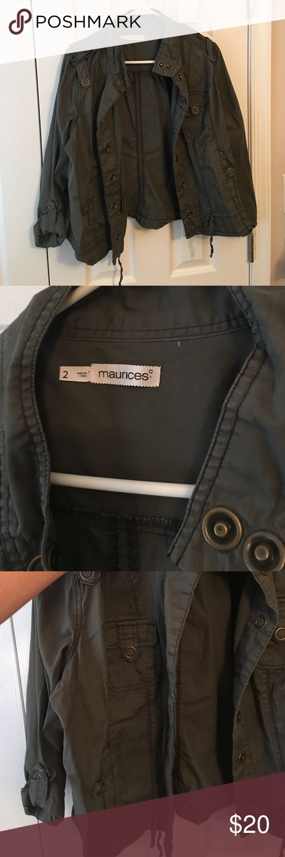Maurice's Women's military lightweight jacket Like New - Olive Green Maurice's size 2 (plus) women's military style light weight jacket - perfect for spring Maurices Jackets & Coats Utility Jackets