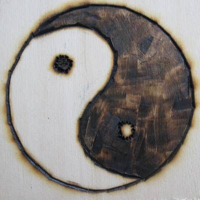 Originally believed to be a Chinese symbol, the Yin Yang is also a Buddhist representation of the cycle of rebirth, and of Nirvana itself. In Taoism, it is known as the Taiji, and symbolizes Tao itself.  Although this symbol is traditionally Asian, similar images have been found in the shield patterns of Roman centurions, dated back to about 430 c.e. There is no scholarly evidence as to a connection between these images and the ones found in the Eastern world.