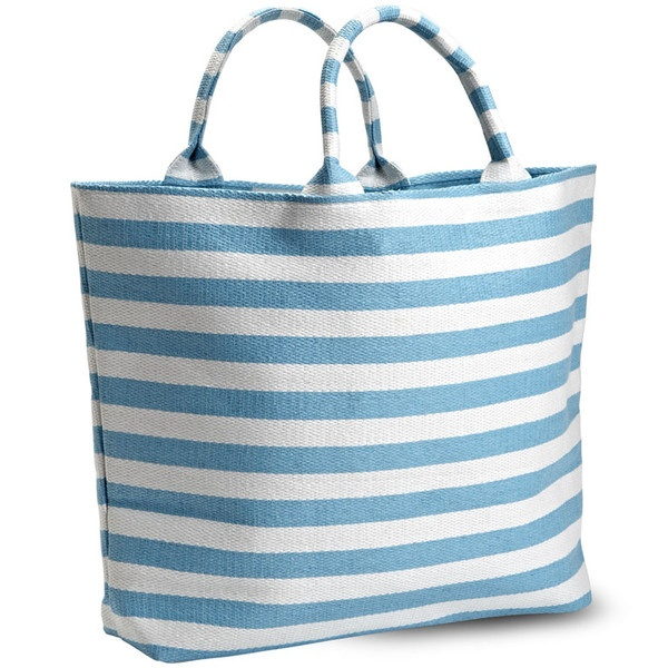 Large Striped Summer Tote in Turquoise available through www.shop219.com