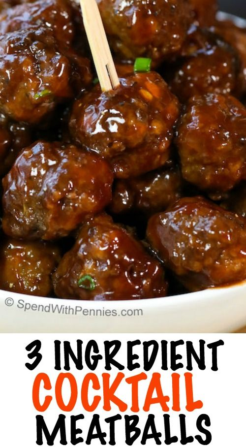 Easy 3 Ingredient Cocktail Meatballs! These delicious ...