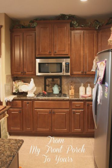 Creating a french country kitchen cabinet finish using for Kitchen cabinets french country style