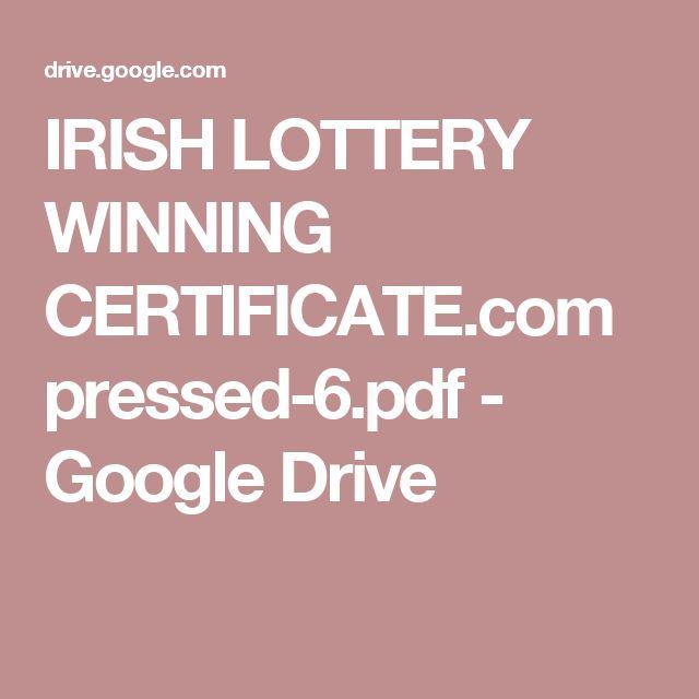 IRISH LOTTERY WINNING CERTIFICATE.compressed-6.pdf - Google Drive