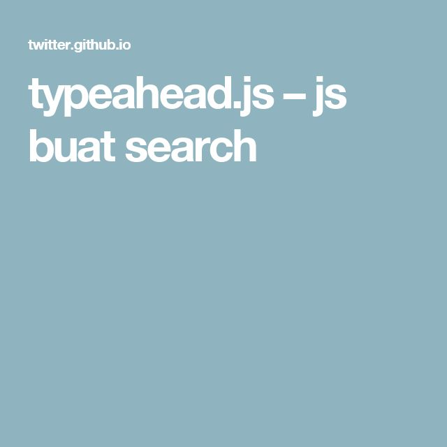 typeahead.js – js buat search