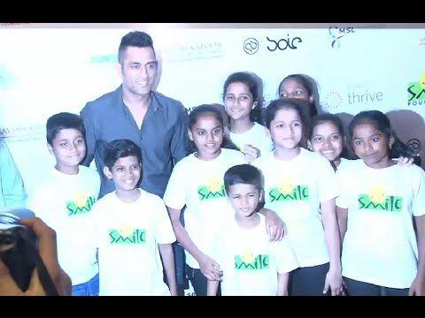 MS Dhoni at Virat Kohli Foundation charity Gala dinner hosted for smile foundation.