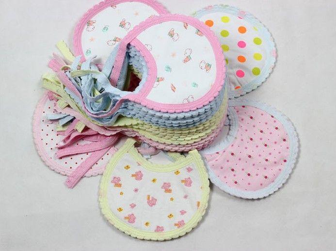 Детские нагрудники и рыгающие ткани детские нагрудники детские рыгающие ткани хлопок супер цвет произвольный 100 pcs/lot