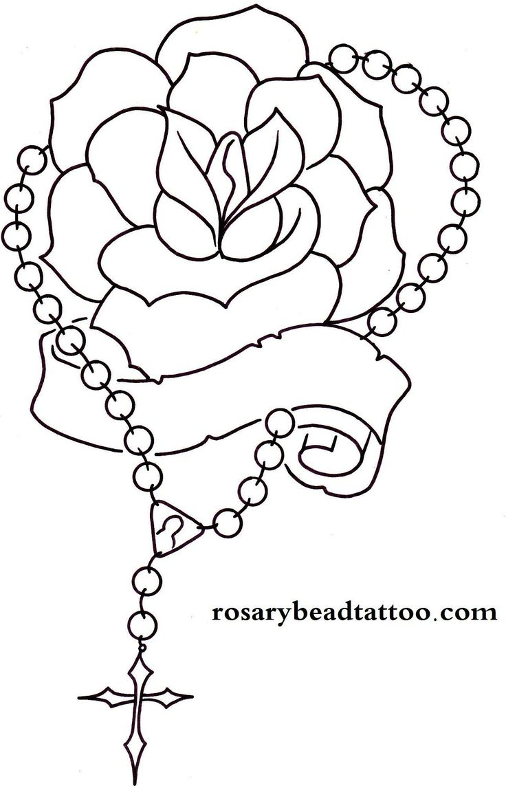 Rosary Drawings  Rose Tattoo,banner Tattoo,rosary Tattoo,name Tattoo  Design,