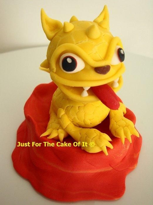 I made these Skylander cake toppers this summer for a wonderful little boy. They are Molten Hot Dog, Flame Slinger and Wrecking Ball. I always feel a little stress making these things that I know nothing about, but love the challenge. Thankfully...