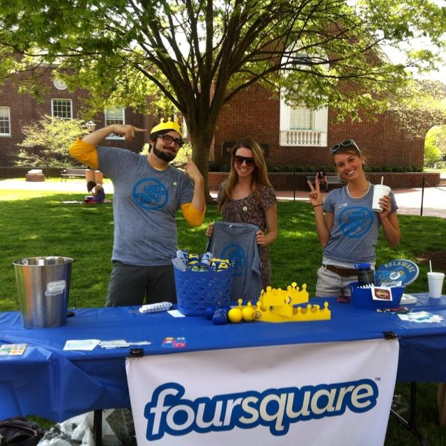 SMAs Courtney, Sara and Tony on Foursquare Day 2012