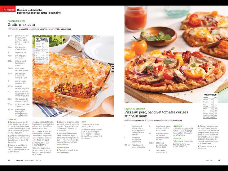 17 best gratin images on pinterest diet impala and - Cuisiner le dimanche pour la semaine ...
