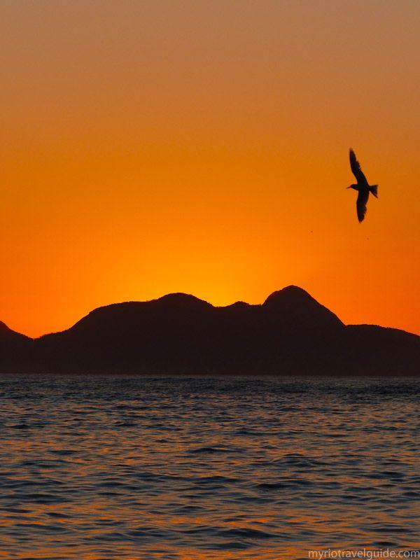Sunrise on Copacabana Beach, Rio de Janeiro, Brazil.