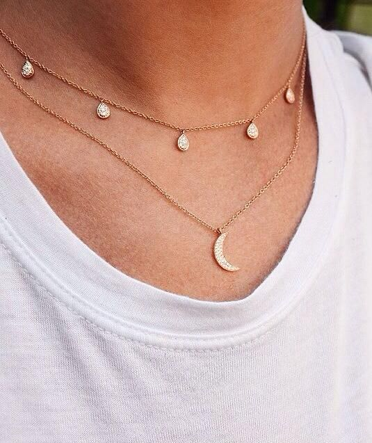 dainty necklaces are always an essential // Shop accessories on Effinshop.com