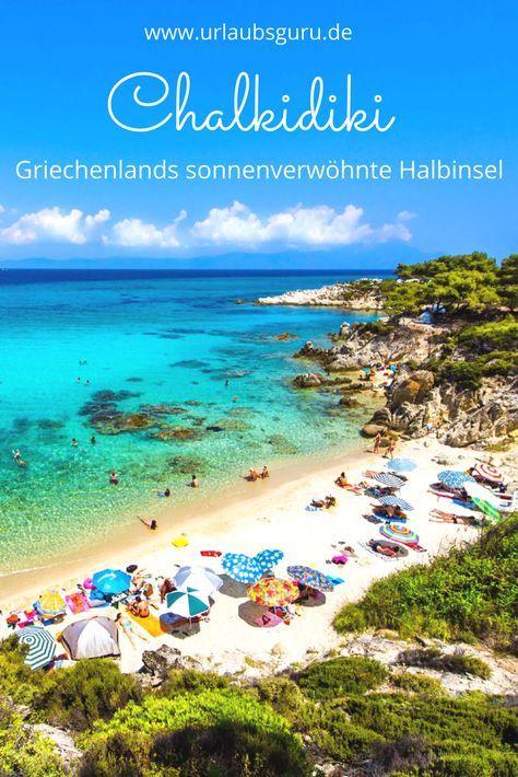 Die griechische Halbinsel Chalkidiki lässt das Herz eines jeden Strandurlaubers höher schlagen. Kilometerlange Sandstrände, traumhafte versteckte Buchten, umgeben vom türkisblauen Meer, und grüne Naturparadiese sind nur einige Gründe, die für einen Urlaub auf Chalkidiki sprechen.