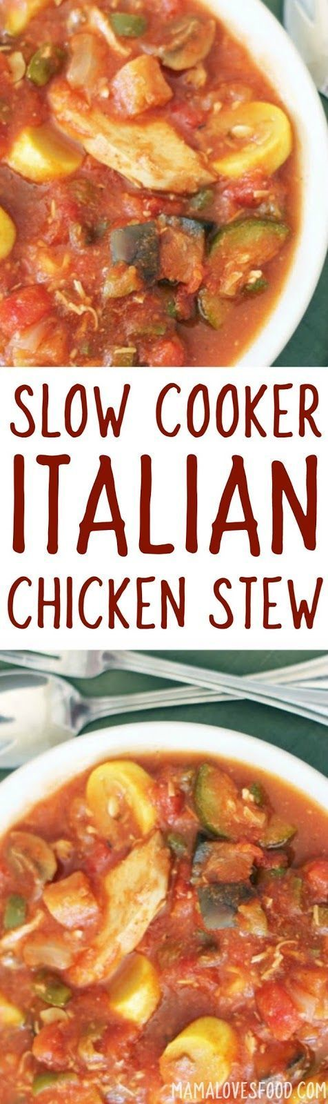 whole family liked it - will make again!  Slow Cooker Italian Stew Recipe with Chicken