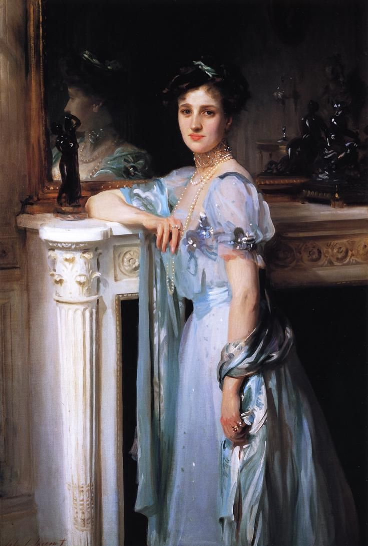 Mrs. Louis Raphael  John Singer Sargent- this painting is in our local art museum here in AL. It's one of Ally's favorites. :)