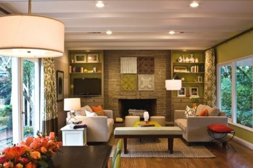 Love everything about this room.Mid Century Modern, Colors Combos, Living Rooms, Modern Families, Small Living Room, Modern Living, Families Room Design, Livingroom, Colors Schemes