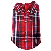 Red Plaid Pet Dog Shirt - Small - Big Dog