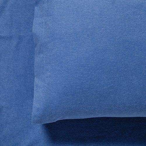 Plain Dye Flannelette Sheet Set Denim