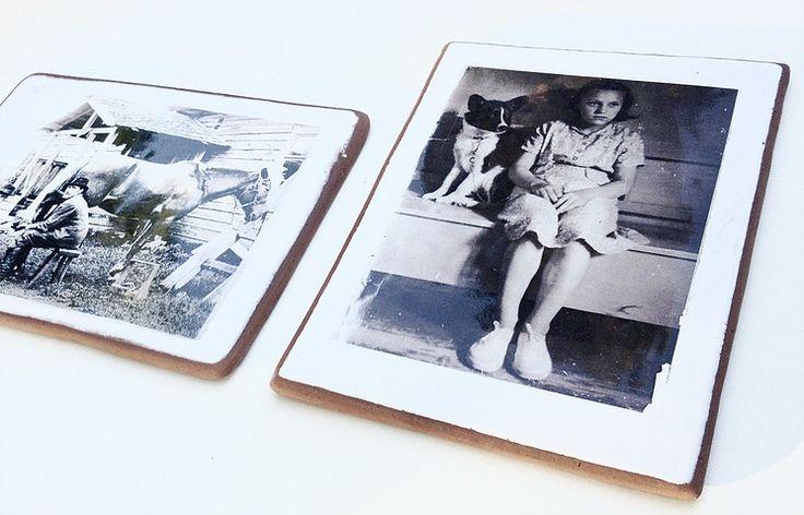 Old pics on handmade ceramic tile www.kerafiikka.com