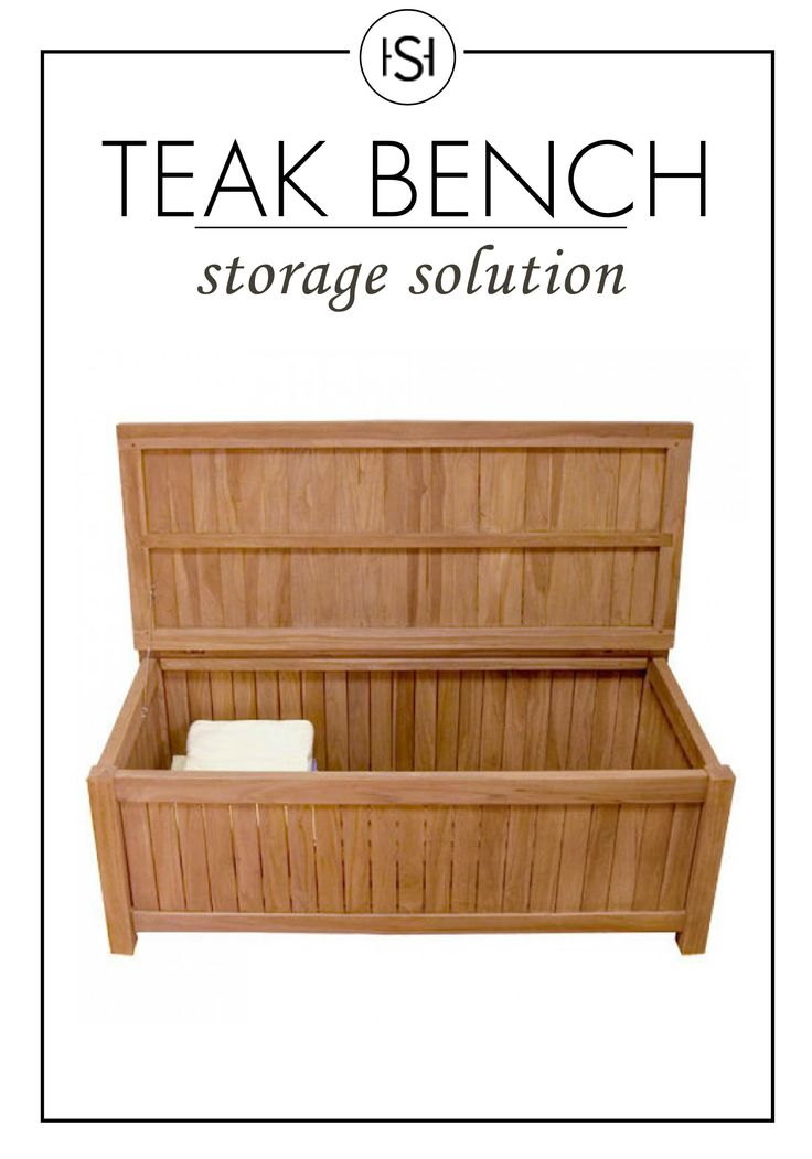 Joanne 4 Ft Teak Outdoor Storage Bench Home Teak And Firewood