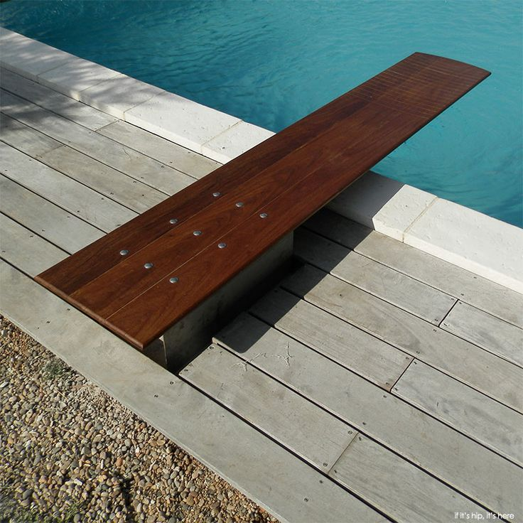 Custom wooden diving boards add elegance to your swimming pool - learn more at if it's hip, it's here