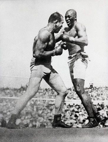 Jack Johnson's historic fight against Jim Jeffries, 1910
