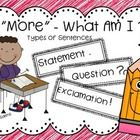 """""""More"""" - What Am I?  Types of Sentences"""